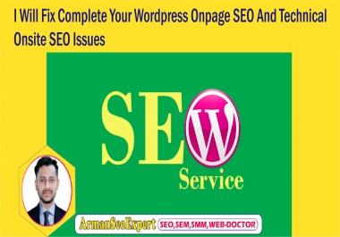 I Will Fix Complete Your Wordpress Onpage SEO And Technical Onsite SEO Issues