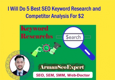 I Will Do 5 Best SEO Keyword Research and Competitor Analysis