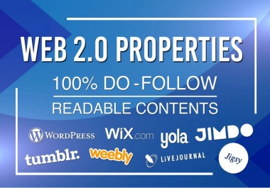 I will Skyrocket your Website with 20 High Quality web 2.0 properties