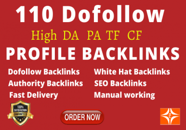 Create Manually 110 pr9 da 90 High Authority Dofollow Profile Backlinks