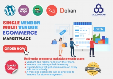 Our Team develop multi vendor website or multi vendor ecommerce