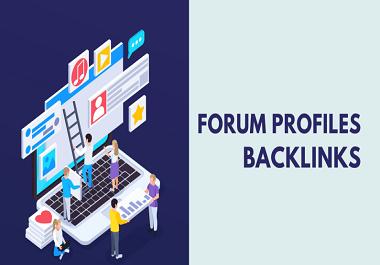 I will do manually Create 100 profile backlinks from high DA