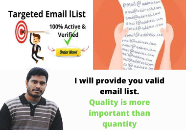 Provide 1k niche targeted and active email list for your business marketing