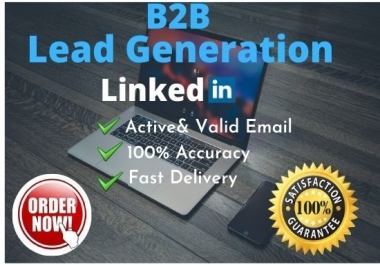 I will provide 100 b2b lead generation for your business