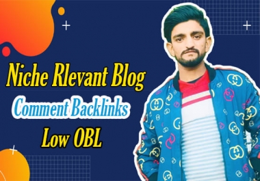 I will do 80 niche relevant blog comment backlinks low obl