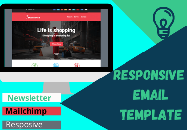 I will design responsive email template newsletter