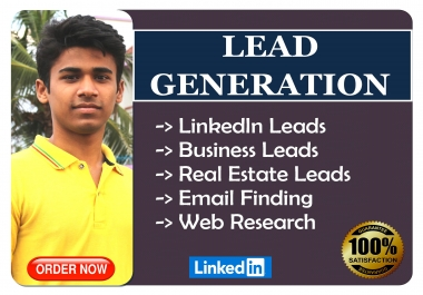 I will do Linkedin Lead Generation and Web Research