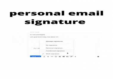 perfect email signature for personal email