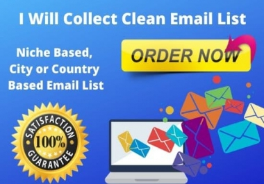 I will give a valid and organic USA business email list