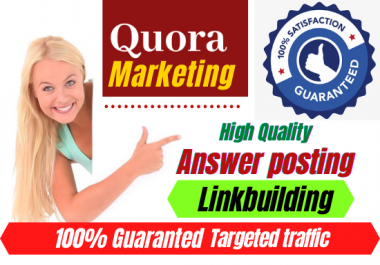 Boost your website with 20+ Quora Answer For Your Business,Website Targeted Traffic