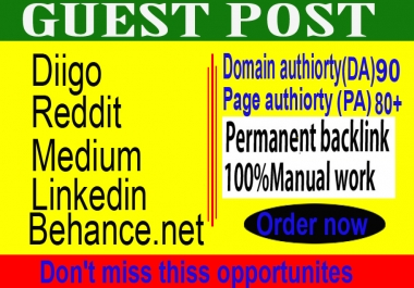 I will do write and publish 5 guest posts on high-quality permanent backlinks