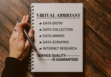 I will do fastest data entry, copy paste, web research, jpg to pdf, virtual assistant