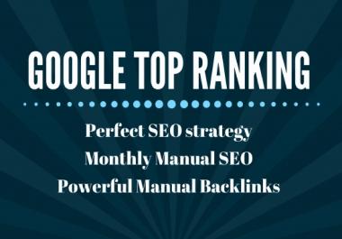 I probide 150 SEO backlinks white hat manual link building service for google top ranking