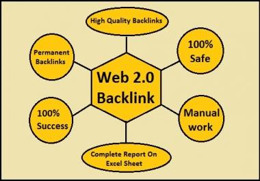 I will do 20 high authority white hat web 2.0 backlinks