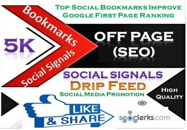 TOP Powerful Site 5,000 Social Signals HQ Bookmark Backlinks SEO Boost increase Google Ranking