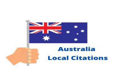 I will create 60 top australia local citations