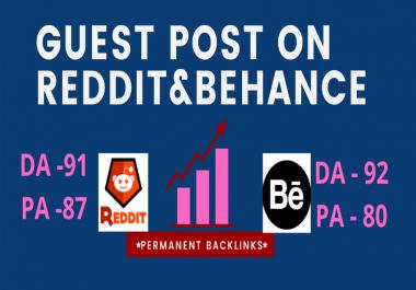 Write and Publish Guest Post on high DA Reddit.com,Behance.net