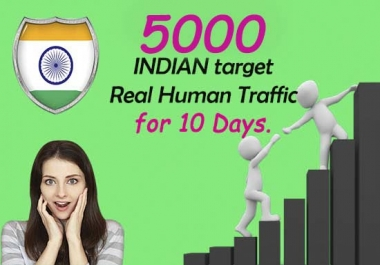 5000 Real Indian human Traffic for your website or blog.