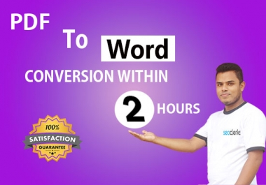 I will convert pdf to word,jpg to word typing manually