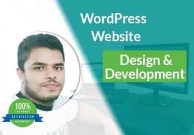 I will create beautiful wordpress website
