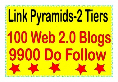 Multi-Tiered Backlinks - 10000 Contextual Web 2.0 blogs & Do-follow Tiered Backlinks For SEO