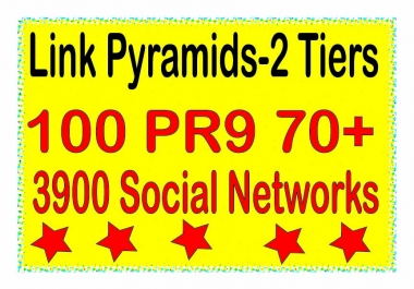 Powerful Multi-Tier - 4000 Contextual PR9 DA70+ & .Social networks Tiered Backlinks For SEO