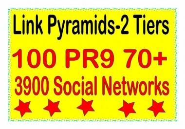 Powerful Multi-Tier - 200 Contextual PR9 DA70+ & .Web 2.0 blogs Tiered Backlinks For SEO