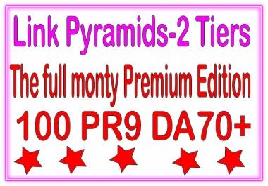 Top Multi-Tier Backlinks - 100 PR9 DA70+ &. The Full Monty Premium edition Tiered Backlinks For SEO