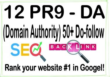 Get 12 DA (Domain Authority) 50+ Do-follow Backlinks For SEO Ranking