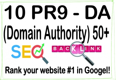 Get 10 DA (Domain Authority) 50+ For SEO Ranking