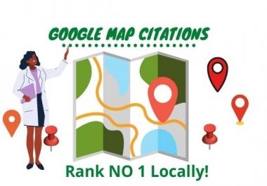 create 100 google map citations for local SEO