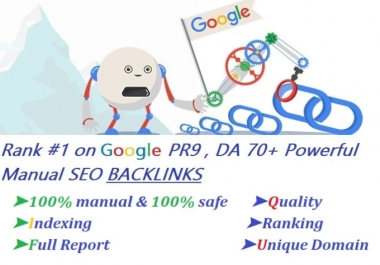 I will rank your sites with pr9 authority high quality backlinks