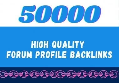 I will create high quality forum profile backlinks, forum posting
