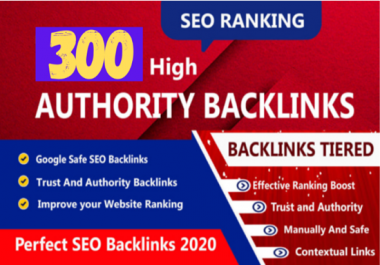 i will create 300 unique domain HQ all in one SEO backlinks package