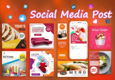 I will professional social media post design