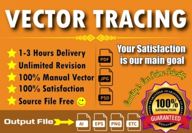 I will redraw, vectorize, convert logo or any graphics to vector within 3 hours