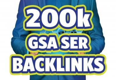 200K GSA SER Unique Dofollow Backlinks for Fastest Ranking in Google