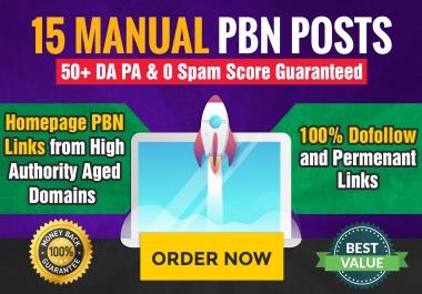 Build 15 High PA DA TF CF HomePage PBN Backlinks - Dofollow Quality Links