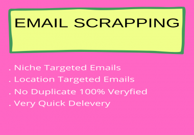 I will create niche targeted email list building