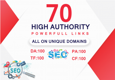 I will do 70 uinque domain dofollow backlinks with da 100
