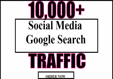 Super 10,000+ country targeted Web traffic from Social media and Search Engine