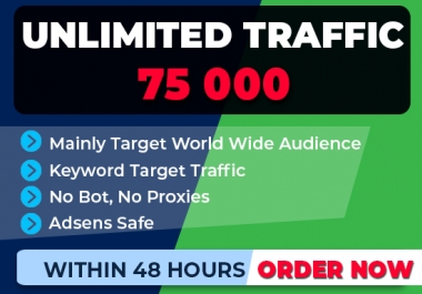 boost 75,000 SEO keyword target website traffic,real visitors