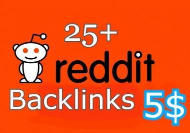 25 High Quality Reddit Backlinks