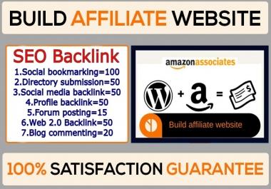 I will do Affiliate website Seo backlinks Google 1st Ranking