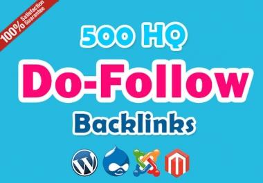 I will get 500 HQ do follow backlinks