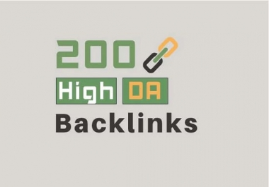I will provide 200 high da pr backlinks for your SEO service