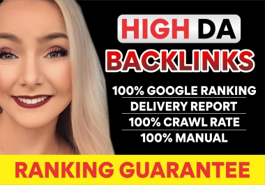 I will build 100 high domain authority seo dofollow backlinks