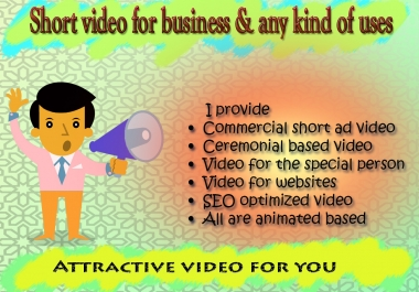Provide short edited video ad for business or different useful uses