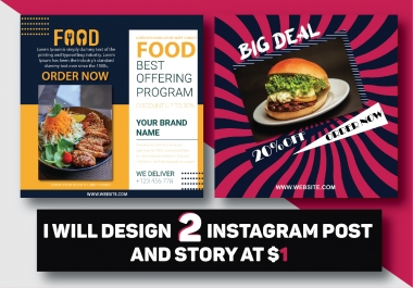 Instagram Post and Story Design
