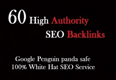 I will create 60 high quality SEO backlinks link building